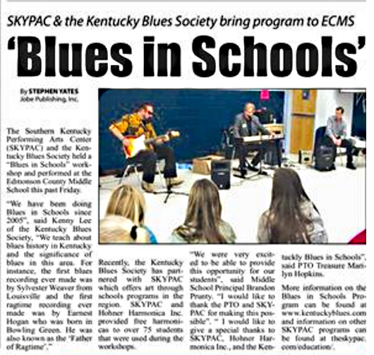 Blues in Schools Edmonson County paper